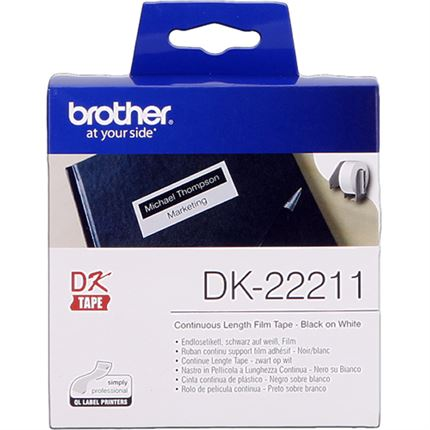 Brother DK-22211 Etiquetas Cinta continua, 29 mm x 15,24 m blanco original