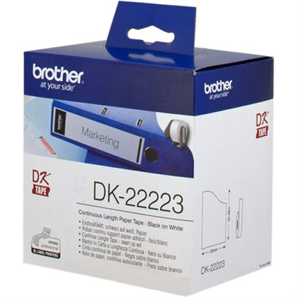 Brother DK-22223 Etiquetas continuo, 50 mm x 30,48 m blanco original