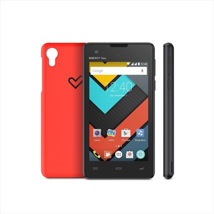 smartphone energy phone n-o lite (protection kit, 4 ips, quad core, 1 gb, anDRoid  5.1, dual sim)